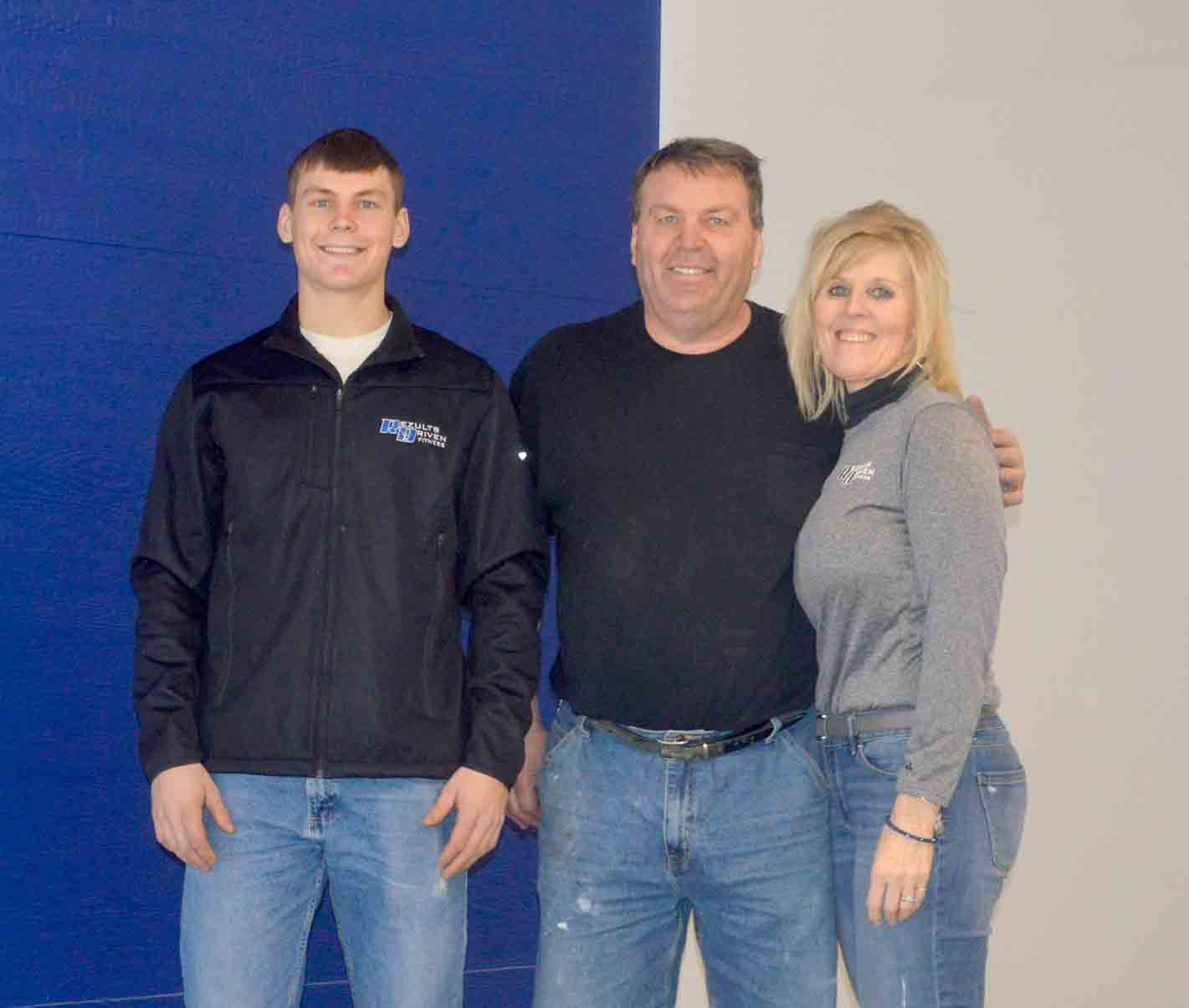 The Denner family from Fredericksburg, including (l-r) Ryan, Terry, and Teri, is looking forward to opening Rezults Driven Fitness in Calmar. The 24-hour gym, which features cardio, Cross Fit, strength training/free weights, functional training equipment, personal training, and small group...