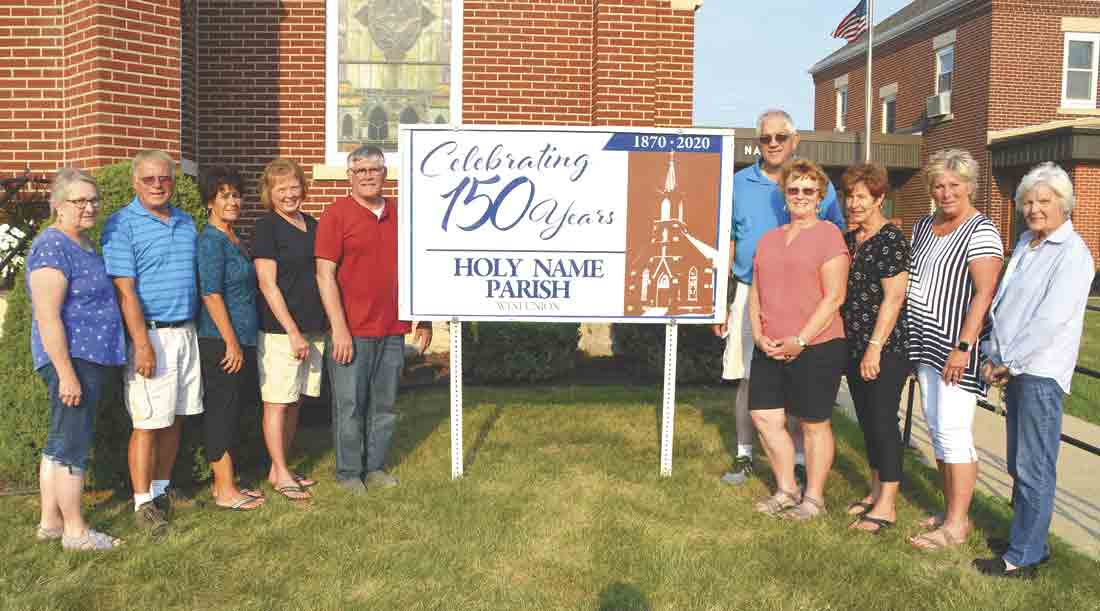 The Holy Name Catholic Church 150th Anniversary Celebration Committee members are (l-r) Bonnie Patrick, LeRoy and Marcia Soppe, Barb and Mike Heins, Don and Donna Baumler, Laurie Thompson, Judy Roach, and Jane Marshall. (Jack Swanson photo)Holy Name Catholic Church to celebrate 150th...