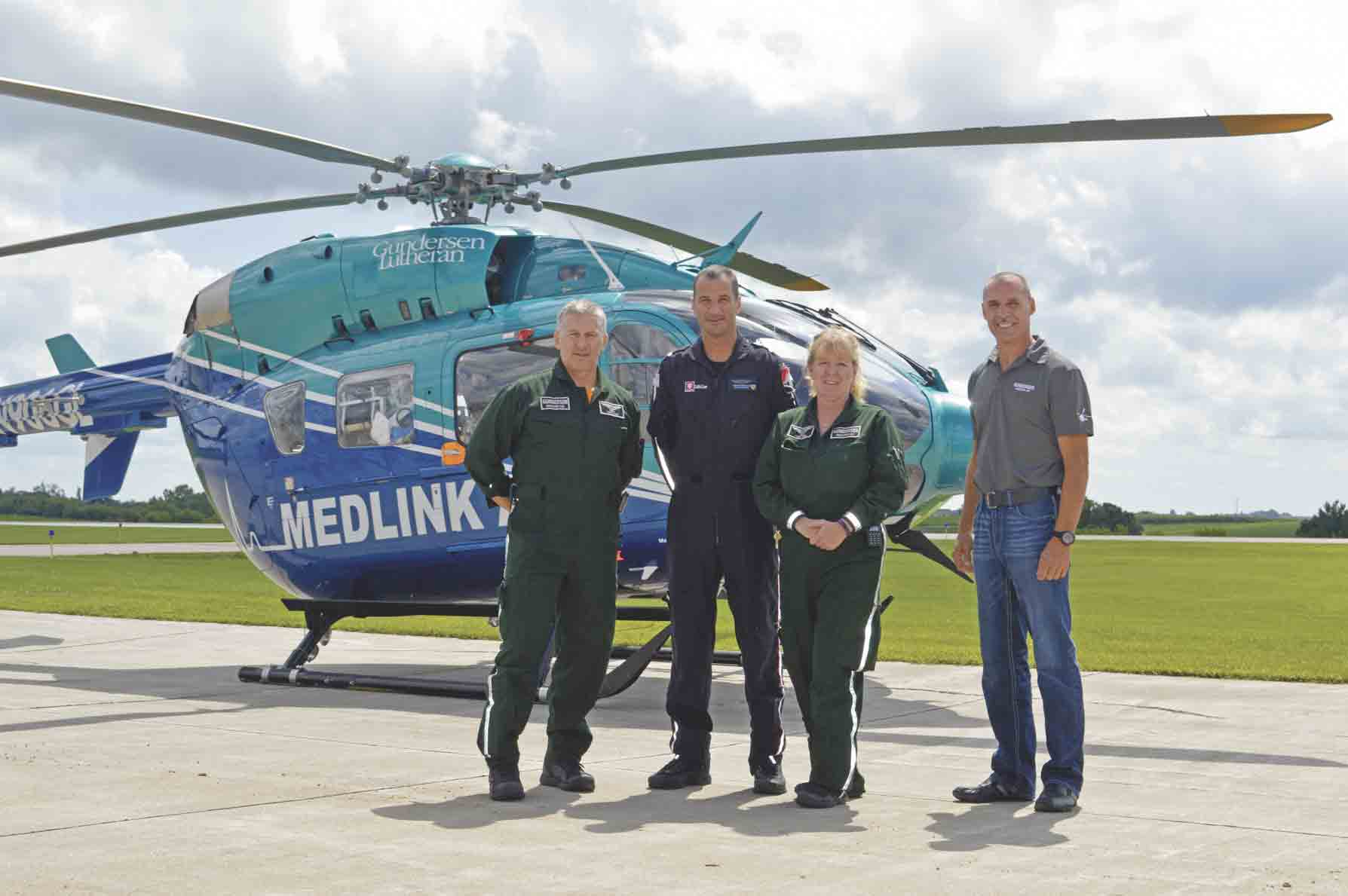 MedLink AIR, which is the emergency medical helicopter for Gundersen Health Systems, is currently experimenting with a trial run of basing one of its two helicopters in Decorah. With a full flight staff that has accumulated over 130 combined years of experience, on-shift flight nurse Terry...