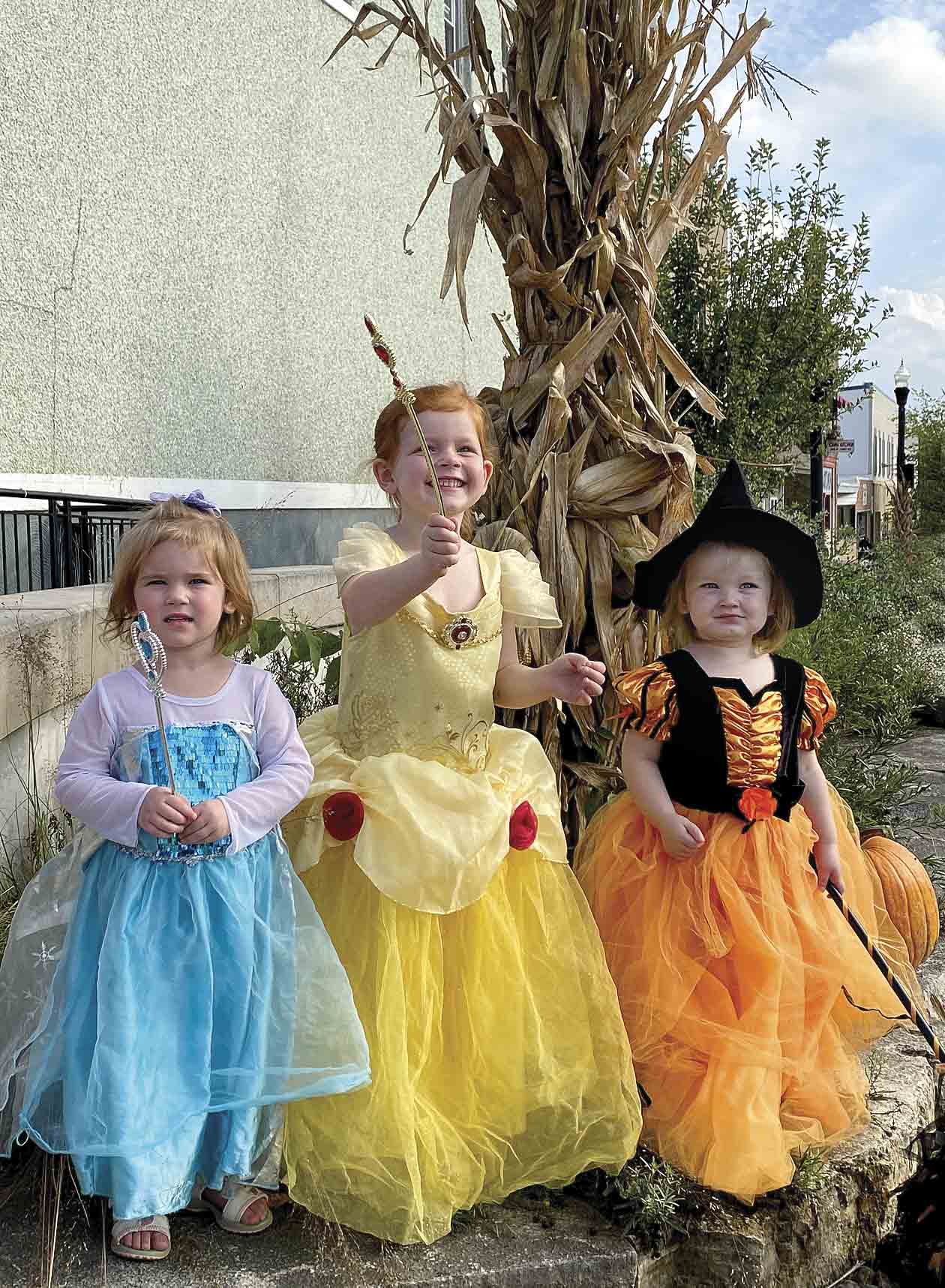 The excitement is mounting for Terry and Shari Lauer's granddaughters (l - r) 2-year-old Ryleigh Lueder, 4-year-old Reagan Lueder and 2-year old Evelyn Boyer as they anticipate Halloween festivities that are about to begin this weekend. West Union kicks off its annual Trunk or Treat this...