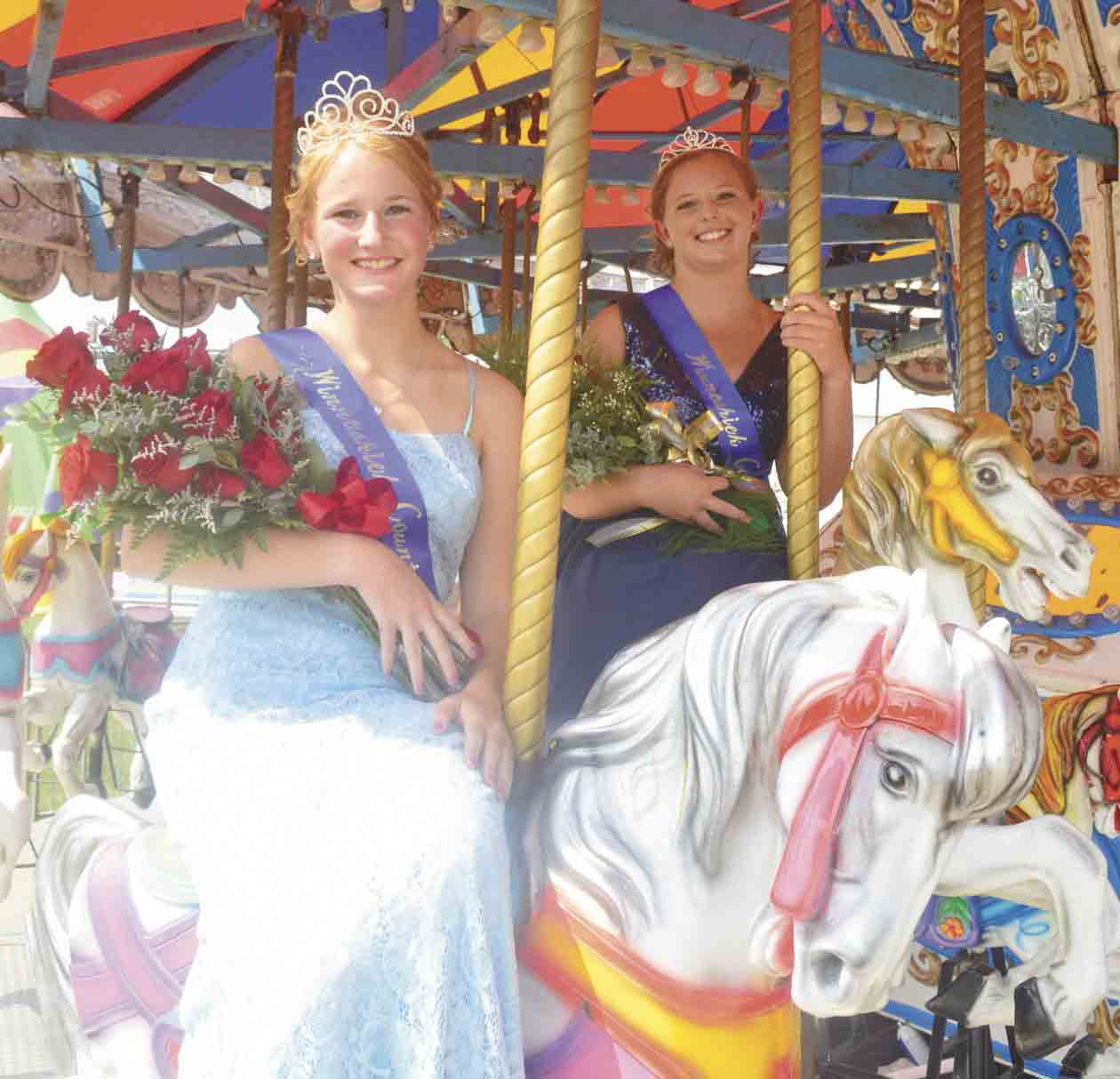 The 2021-22 Winneshiek County Fair royalty is Queen Holly Schmitt (left) and Princess Kalissa Schmelzer. Be sure to check out next week's Ossian Bee for more photos and 4-H/FFA show results. (Zakary Kriener photo)Winneshiek County Fair royalty