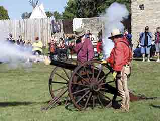 A couple of blacksmiths set off one of the cannons at Fort Atkinson during a previous Rendezvous. This year's event will be held Saturday and Sunday, Sept. 24-25, and will feature endless amounts of fun and activities for the whole family. (submitted photo)40th Annual...