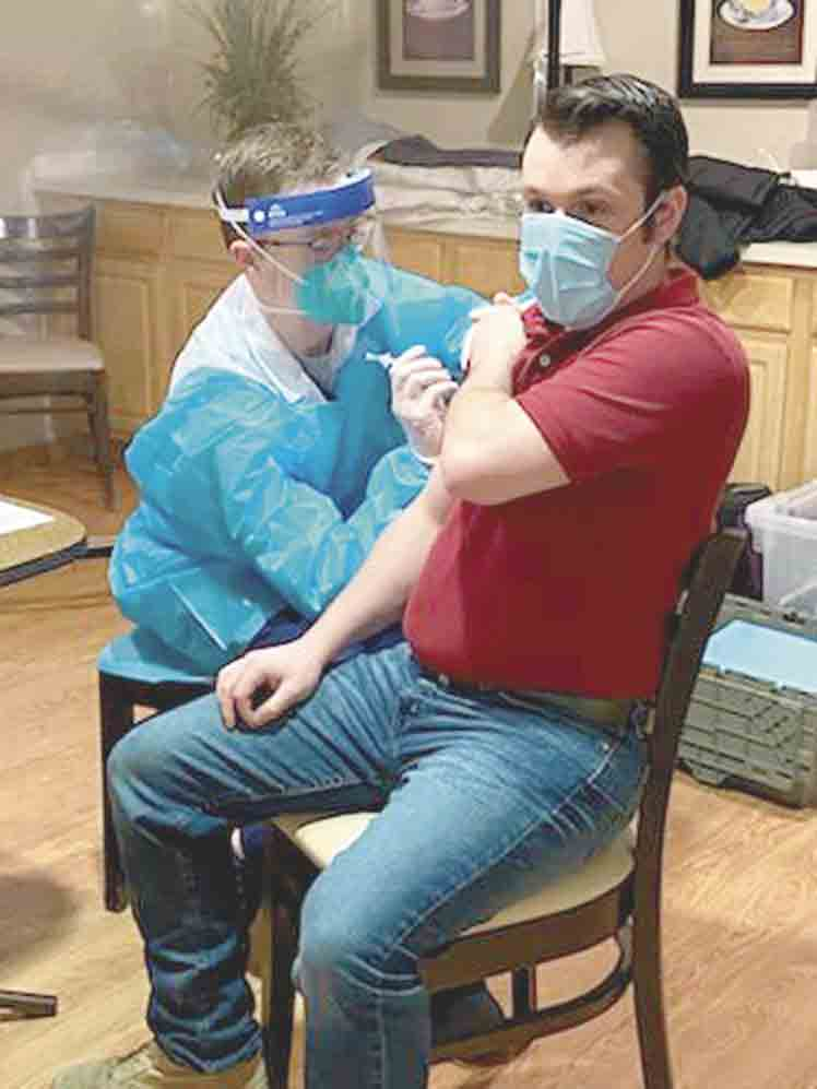 Copper Creek Senior Living Administrator Matthew Marsala encouraged everyone's participation in getting the Covid-19 vaccination recently. 	West Union assisted living centers get first round of vaccine By Jack Swanson	jswanson@fayettecountynewspapers.com The two...