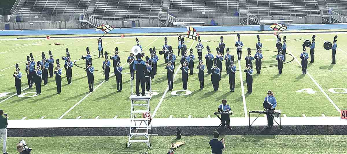 The North Fayette Valley Marching Band performing at the State Festival at West Waterloo High School, Saturday, Oct. 9. They received a Division I rating. (Photo submitted)NFV Marching Band makes history at State Festival with Division I ratingBy Jack Swansonjswanson@...