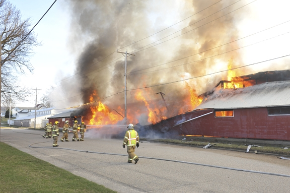Fayette County Fairgrounds Beef Building on Fire