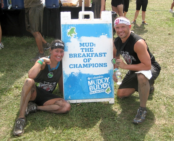 "DeeDee and Chris Nms after running the ""Muddy Buddy"" race in Chicago"